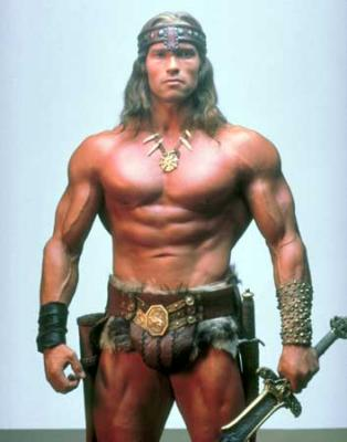 Picture of Arnold Schwarzenegger as Conan the Barbarian