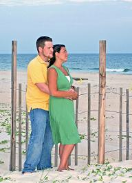 Picture of Young Couple at the Beach