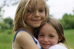 Picture of Hugging Sisters