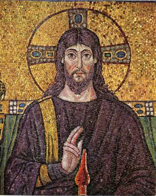Picture of Jesus of Nazareth (6th Century Mosaic)